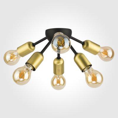 Потолочный светильник TK Lighting 1467 Estrella Blackлюстры лофт потолочные<br>