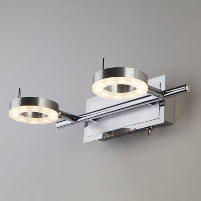 Настенный светильник бра Евросвет 20001/2 алюминийдвойные светильники споты<br>