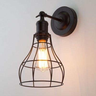 Купить Настенный светильник бра Евросвет 50062/1 черный, Китай, Металл