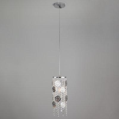 Подвесной светильник Евросвет 10083/1 хром/прозрачный хрусталь Strotskis