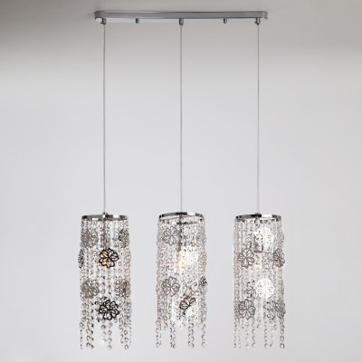 Подвесной светильник Евросвет 10083/3 хром/прозрачный хрусталь Strotskis