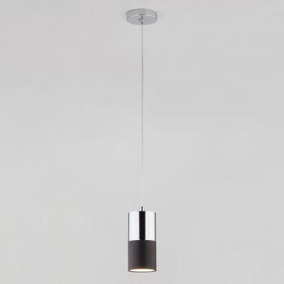 Светильник Евросвет 50146/1 хром/черныйодиночные подвесные светильники<br>