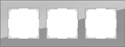 Рамка на 3 поста (серый,стекло) Werkel Favorit WL01-Frame-03Werkel<br>Рамка на 3 поста (серый,стекло) Werkel Favorit WL01-Frame-03  является неотъемлемой частью коллекции, важной электротехнической необходимостью в доме и эстетически красивым элементом в концепции всего дизайна помещения. В одной комнате рекомендовано устанавливать розетки и выключатели одного производителя, серии и оттенка для гармоничного сочетания всей электрики.