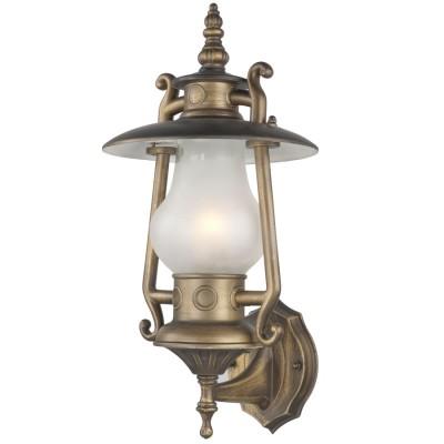 Светильник керосинка favourite 1496-1WНастенные<br>Уличный светильник в виде керосинной лампы отличный вариант украшения беседки или бара (кафе).<br><br>Цветовая t, К: 2400-2800<br>Тип лампы: накаливания / энергосберегающая / светодиодная<br>Тип цоколя: E27<br>Количество ламп: 1<br>Ширина, мм: 210<br>MAX мощность ламп, Вт: 60<br>Выступ, мм: 215<br>Размеры: W215*D210*H430<br>Высота, мм: 430<br>Поверхность арматуры: матовый<br>Цвет арматуры: коричневый