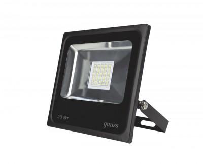 Прожектор светодиодный Gauss LED 20W IP65 6500К черныйОжидается<br><br>