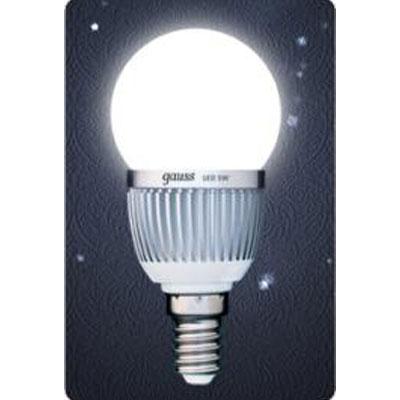 Лампа светодиодная Gauss Led P45 Globe 5W E14 4100K (= 60W обычной)Стандартный вид<br><br><br>Цветовая t, К: CW - холодный белый 4000 К<br>Тип лампы: LED - светодиодная<br>Тип цоколя: E14<br>MAX мощность ламп, Вт: 5<br>Диаметр, мм мм: 45<br>Длина, мм: 90<br>Цвет арматуры: алюминиевый радиатор