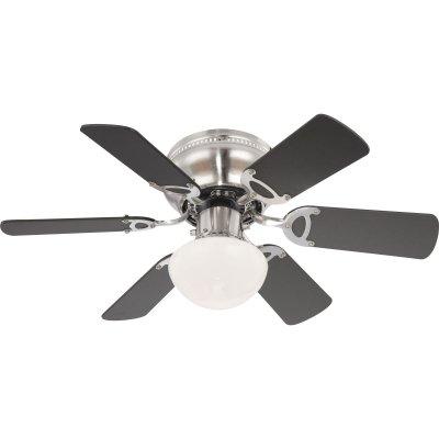 Светильник потолочный с вентилятором Globo 0307WС вентилятором<br><br><br>S освещ. до, м2: 1<br>Тип товара: Светильник потолочный с вентилятором<br>Скидка, %: 26<br>Тип цоколя: E27<br>Количество ламп: 1<br>MAX мощность ламп, Вт: 60<br>Диаметр, мм мм: 760<br>Высота, мм: 280<br>Цвет арматуры: матовый никель