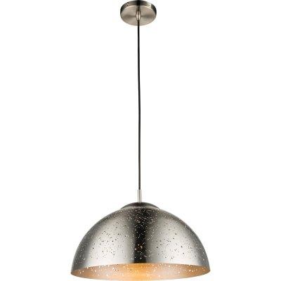 Светильник подвесной Globo 15001Одиночные<br><br><br>Тип лампы: Накаливания / энергосбережения / светодиодная<br>Тип цоколя: E27<br>Цвет арматуры: никель<br>Диаметр, мм мм: 400<br>Высота, мм: 1400