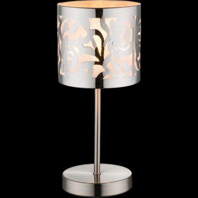 Настольная лампа Globo 15084t BENTСовременные настольные лампы модерн<br>Настольная лампа – это не просто источник дополнительного освещения, но и оригинальный элемент декора. Его можно установить в спальне, гостиной, кабинете и других комнатах. Интернет-магазин «Светодом» предлагает настольные лампы разных стилей по доступным ценам. Благодаря большому ассортименту Вы обязательно найдете в нашем каталоге именно ту модель, которую искали.   Настольная лампа Globo 15084T – прекрасный вариант для завершения интерьера. Ее можно включить одновременно с люстрой для более яркого освещения или без нее для создания уютной атмосферы, настраивающей на отдых.   Купить настольную лампу Globo 15084T Вы можете с помощью виртуальной «Корзины» или по контактным номерам, указанным на сайте.<br><br>Тип цоколя: E14<br>Цвет арматуры: серебристый<br>Количество ламп: 1<br>MAX мощность ламп, Вт: 40