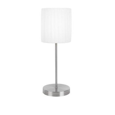 Сенсорная настольная лампа Globo 15105T La NubeС абажуром<br><br><br>S освещ. до, м2: 2<br>Тип товара: Настольная лампа<br>Скидка, %: 27<br>Тип лампы: накал-я - энергосбер-я<br>Тип цоколя: E14<br>Количество ламп: 1<br>MAX мощность ламп, Вт: 40<br>Диаметр, мм мм: 160<br>Высота, мм: 180<br>Цвет арматуры: серый
