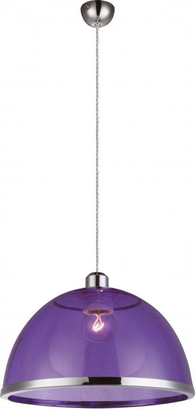 Светильник подвесной Globo 151820Ожидается<br><br><br>Тип цоколя: E27<br>Цвет арматуры: фиолетовый<br>Диаметр, мм мм: 340<br>Высота, мм: 1200