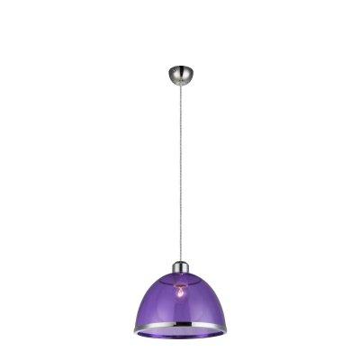 Светильник подвесной Globo 15182 CARLOОдиночные<br><br><br>Тип товара: Светильник подвесной<br>Тип цоколя: E27<br>Количество ламп: 1<br>MAX мощность ламп, Вт: 40<br>Цвет арматуры: фиолетовый