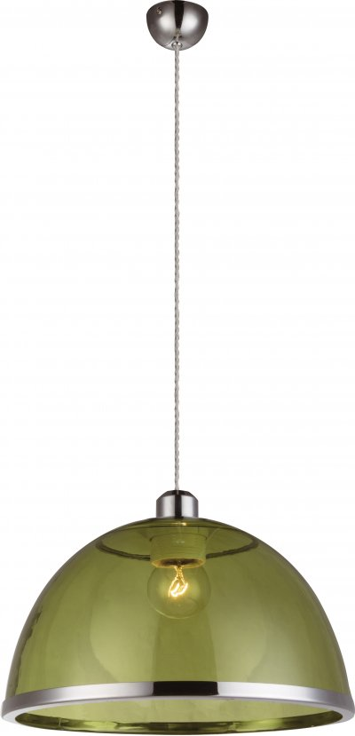 Светильник подвесной Globo 151830Ожидается<br><br><br>Тип цоколя: E27<br>Диаметр, мм мм: 340<br>Высота, мм: 1200<br>Цвет арматуры: зеленый