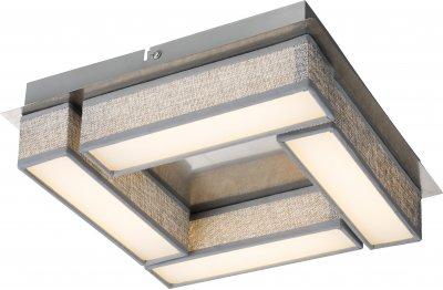 Светильник потолочный Globo 15185-12DОжидается<br><br><br>Тип цоколя: LED<br>Цвет арматуры: серебро<br>Ширина, мм: 300<br>Высота, мм: 300