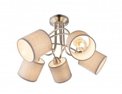 Люстра потолочная Globo 15185-5D PACOОжидается<br><br><br>Тип цоколя: E14<br>Цвет арматуры: серебристый никель<br>Количество ламп: 5<br>Диаметр, мм мм: 460<br>Высота, мм: 275<br>MAX мощность ламп, Вт: 125