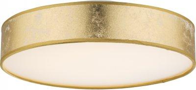 Светильник потолочный Globo 15187D1Ожидается<br><br><br>Тип цоколя: LED<br>Диаметр, мм мм: 300<br>Высота, мм: 90<br>Цвет арматуры: золотой