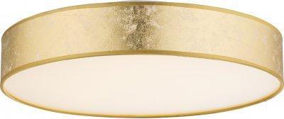 Светильник потолочный Globo 15187D2Потолочные<br><br><br>Установка на натяжной потолок: Да<br>S освещ. до, м2: 10<br>Тип лампы: LED<br>Тип цоколя: LED<br>Цвет арматуры: золотой<br>Диаметр, мм мм: 400<br>Высота, мм: 105