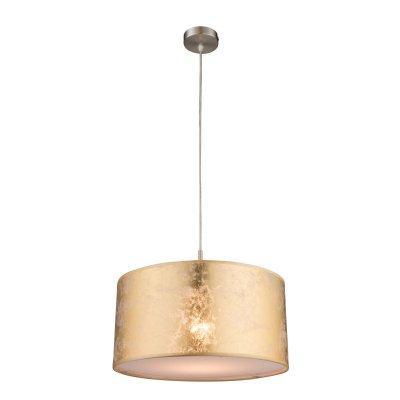 Светильник подвесной Globo 15187h AMYОдиночные<br><br><br>Тип товара: Светильник подвесной<br>Скидка, %: 21<br>Тип цоколя: E27<br>Количество ламп: 1<br>MAX мощность ламп, Вт: 60<br>Цвет арматуры: золото