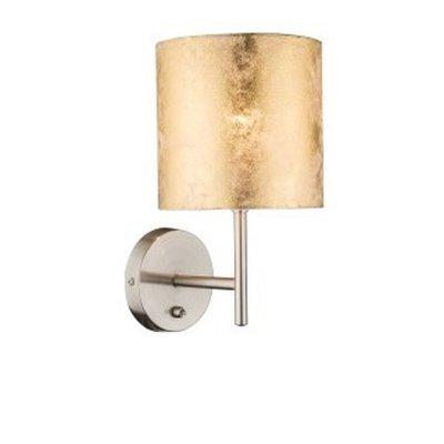 Светильник настенный бра Globo 15187w AMYМодерн<br><br><br>Тип товара: Светильник настенный<br>Скидка, %: 16<br>Тип цоколя: E14<br>Количество ламп: 1<br>MAX мощность ламп, Вт: 40<br>Цвет арматуры: золотой