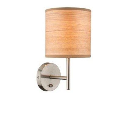 Светильник настенный бра Globo 15189w AMY IIСовременные<br><br><br>Тип цоколя: E14<br>Цвет арматуры: серебристый<br>Количество ламп: 1<br>MAX мощность ламп, Вт: 40