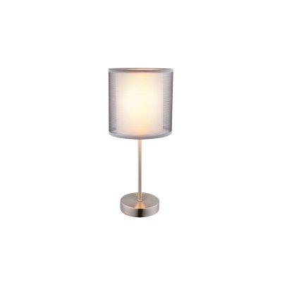 Настольная лампа Globo 15190t THEOСовременные<br>Настольная лампа – это не просто источник дополнительного освещения, но и оригинальный элемент декора. Его можно установить в спальне, гостиной, кабинете и других комнатах. Интернет-магазин «Светодом» предлагает настольные лампы разных стилей по доступным ценам. Благодаря большому ассортименту Вы обязательно найдете в нашем каталоге именно ту модель, которую искали.   Настольная лампа Globo 15190T – прекрасный вариант для завершения интерьера. Ее можно включить одновременно с люстрой для более яркого освещения или без нее для создания уютной атмосферы, настраивающей на отдых.   Купить настольную лампу Globo 15190T Вы можете с помощью виртуальной «Корзины» или по контактным номерам, указанным на сайте.<br><br>Тип цоколя: E14<br>Цвет арматуры: серебристый<br>Количество ламп: 1<br>MAX мощность ламп, Вт: 40