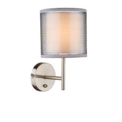 Светильник настенный бра Globo 15190w THEOСовременные<br><br><br>Тип цоколя: E14<br>Количество ламп: 1<br>MAX мощность ламп, Вт: 40<br>Цвет арматуры: серебристый