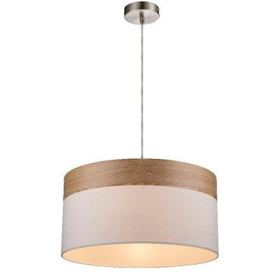 Светильник подвесной Globo 15221h CHIPSYОдиночные<br><br><br>S освещ. до, м2: 3<br>Тип лампы: Накаливания / энергосбережения / светодиодная<br>Тип цоколя: E27<br>Цвет арматуры: бежевый<br>Количество ламп: 1<br>Диаметр, мм мм: 400<br>Высота, мм: 1200<br>MAX мощность ламп, Вт: 60