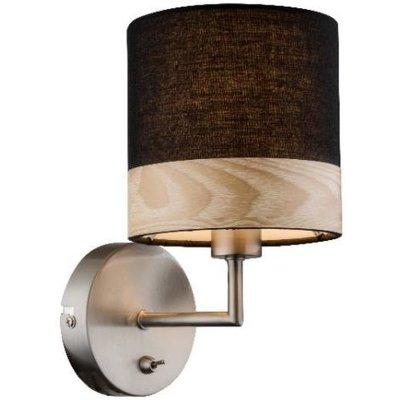 Светильник настенный бра Globo 15222w CHIPSYМодерн<br><br><br>Тип цоколя: E14<br>Количество ламп: 1<br>MAX мощность ламп, Вт: 40<br>Цвет арматуры: черный