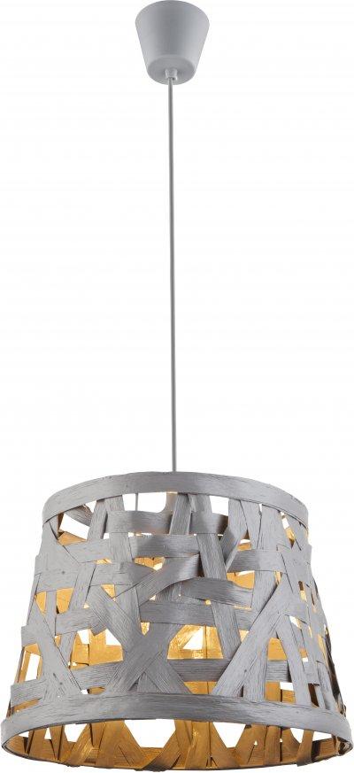 Светильник подвесной Globo 15224Подвесные<br><br><br>Установка на натяжной потолок: Да<br>S освещ. до, м2: 3<br>Тип цоколя: E27<br>Цвет арматуры: серый<br>Количество ламп: 1<br>Диаметр, мм мм: 350<br>Высота, мм: 1440<br>MAX мощность ламп, Вт: 60