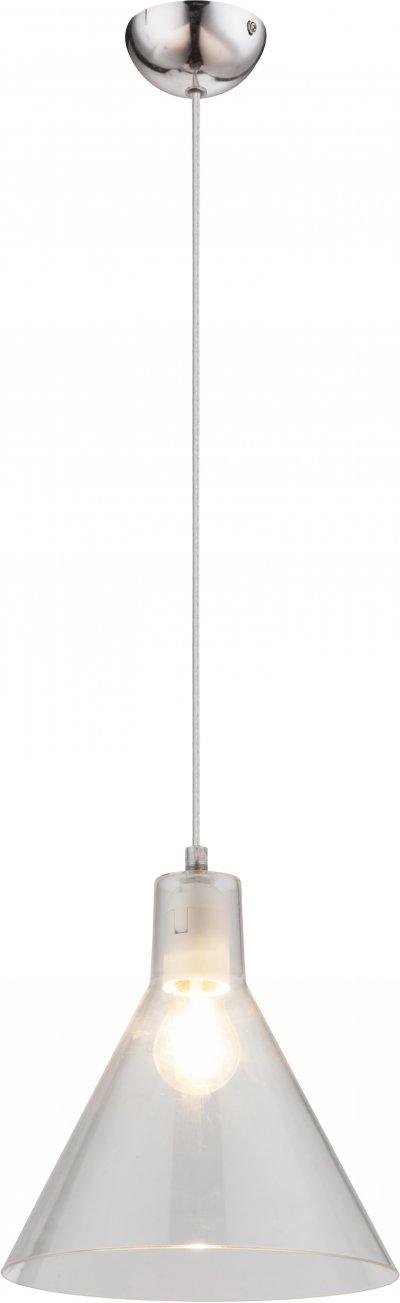 Светильник подвесной Globo 15234TОжидается<br><br><br>Тип цоколя: E27<br>Диаметр, мм мм: 213<br>Высота, мм: 1130<br>Цвет арматуры: прозрачный