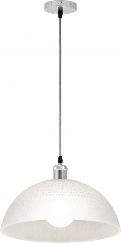 Светильник подвесной Globo 15517Ожидается<br><br><br>Тип цоколя: E27<br>Цвет арматуры: хром серебристый<br>Диаметр, мм мм: 350<br>Высота, мм: 150