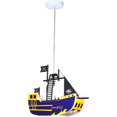Светильник кораблик Globo 15723 Kitaдетские подвесные светильники<br>Отличная модель детского светильника в виде кораблика отлично впишется в морскую тематику комнаты<br><br>S освещ. до, м2: 2<br>Тип лампы: накал-я - энергосбер-я<br>Тип цоколя: E27<br>Цвет арматуры: белый<br>Количество ламп: 1<br>Ширина, мм: 115<br>Длина, мм: 430<br>Высота, мм: 800<br>MAX мощность ламп, Вт: 15