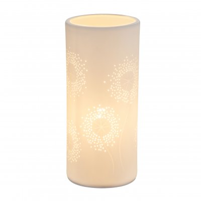 Настольная лампа Globo 15919T CENDRESОжидается<br><br><br>Тип цоколя: E14<br>Цвет арматуры: белый<br>Количество ламп: 1<br>Диаметр, мм мм: 100<br>Высота, мм: 240<br>MAX мощность ламп, Вт: 25