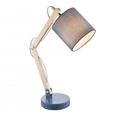 Настольная лампа Globo 21514 MATTISОжидается<br><br><br>Тип цоколя: E14<br>Цвет арматуры: голоубой<br>Количество ламп: 1<br>Ширина, мм: 130<br>Длина, мм: 400<br>Высота, мм: 440<br>MAX мощность ламп, Вт: 40
