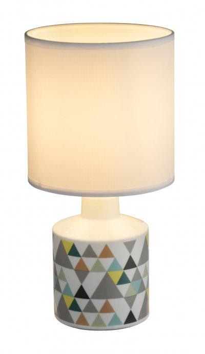 Настольная лампа Globo 21636 SIULAОжидается<br><br><br>Тип цоколя: E14<br>Цвет арматуры: белый, рисунок<br>Количество ламп: 1<br>Диаметр, мм мм: 140<br>Высота, мм: 280<br>MAX мощность ламп, Вт: 40