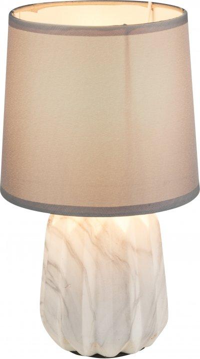 Настольная лампа Globo 21640TСовременные настольные лампы модерн<br><br><br>Тип лампы: Накаливания / энергосбережения / светодиодная<br>Тип цоколя: E27<br>Цвет арматуры: бежевый<br>Количество ламп: 1<br>Диаметр, мм мм: 150<br>Высота, мм: 260<br>MAX мощность ламп, Вт: 60