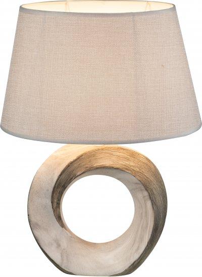 Настольная лампа Globo 21641TСовременные<br><br><br>Тип лампы: Накаливания / энергосбережения / светодиодная<br>Тип цоколя: E27<br>Цвет арматуры: бежевый<br>Количество ламп: 1<br>Ширина, мм: 300<br>Высота, мм: 200