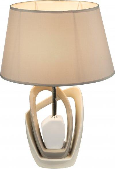 Настольная лампа Globo 21642TОжидается<br><br><br>Тип цоколя: E27<br>Ширина, мм: 310<br>Высота, мм: 200<br>Цвет арматуры: бежевый