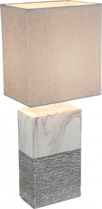 Настольная лампа Globo 21643TСовременные настольные лампы модерн<br><br><br>Тип цоколя: E27<br>Цвет арматуры: бежевый<br>Ширина, мм: 150<br>Высота, мм: 120