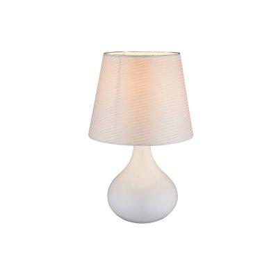 Настольная лампа Globo 21650 FREEDOMСовременные<br>Настольная лампа – это не просто источник дополнительного освещения, но и оригинальный элемент декора. Его можно установить в спальне, гостиной, кабинете и других комнатах. Интернет-магазин «Светодом» предлагает настольные лампы разных стилей по доступным ценам. Благодаря большому ассортименту Вы обязательно найдете в нашем каталоге именно ту модель, которую искали.   Настольная лампа Globo 21650 – прекрасный вариант для завершения интерьера. Ее можно включить одновременно с люстрой для более яркого освещения или без нее для создания уютной атмосферы, настраивающей на отдых.   Купить настольную лампу Globo 21650 Вы можете с помощью виртуальной «Корзины» или по контактным номерам, указанным на сайте.<br><br>Тип цоколя: E14<br>Цвет арматуры: белый<br>Количество ламп: 1<br>Диаметр, мм мм: 170<br>Высота, мм: 270<br>MAX мощность ламп, Вт: 40