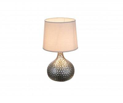 Настольная лампа Globo 21655 SOPUTANОжидается<br><br><br>Тип цоколя: E14<br>Цвет арматуры: серебристый хром<br>Количество ламп: 1<br>Диаметр, мм мм: 140<br>Высота, мм: 280<br>MAX мощность ламп, Вт: 40