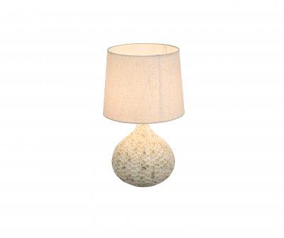 Настольная лампа Globo 21656 SOPUTANОжидается<br><br><br>Тип цоколя: E14<br>Цвет арматуры: белый<br>Количество ламп: 1<br>Диаметр, мм мм: 140<br>Высота, мм: 280<br>MAX мощность ламп, Вт: 40
