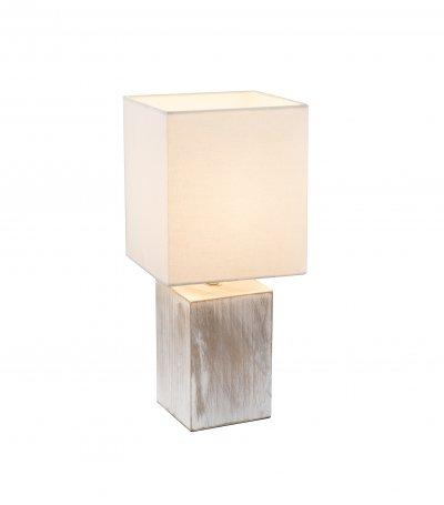 Настольная лампа Globo 21699 ILONAОжидается<br><br><br>Тип цоколя: E14<br>Цвет арматуры: беленое дерево<br>Количество ламп: 1<br>Ширина, мм: 160<br>Длина, мм: 160<br>Высота, мм: 350<br>MAX мощность ламп, Вт: 40