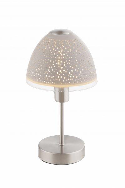 Настольная лампа Globo 21916T1 RINJANIОжидается<br><br><br>Тип цоколя: E14<br>Цвет арматуры: белый<br>Количество ламп: 1<br>Диаметр, мм мм: 150<br>Высота, мм: 270<br>MAX мощность ламп, Вт: 40