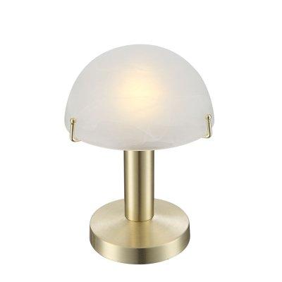 Настольная лампа сенсорная Globo 21935Сенсорные<br>Настольная лампа – это не просто источник дополнительного освещения, но и оригинальный элемент декора. Его можно установить в спальне, гостиной, кабинете и других комнатах. Интернет-магазин «Светодом» предлагает настольные лампы разных стилей по доступным ценам. Благодаря большому ассортименту Вы обязательно найдете в нашем каталоге именно ту модель, которую искали.   Настольная лампа Globo 21935 – прекрасный вариант для завершения интерьера. Ее можно включить одновременно с люстрой для более яркого освещения или без нее для создания уютной атмосферы, настраивающей на отдых.   Купить настольную лампу Globo 21935 Вы можете с помощью виртуальной «Корзины» или по контактным номерам, указанным на сайте.<br><br>Тип цоколя: E14 LED<br>Цвет арматуры: бронзовый<br>Количество ламп: 1<br>Диаметр, мм мм: 150<br>Высота, мм: 225<br>MAX мощность ламп, Вт: 3