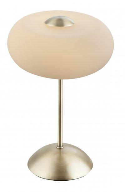 Настольная лампа Globo 21949 TRUDEОжидается<br><br><br>Цветовая t, К: 3000<br>Тип цоколя: LED<br>Цвет арматуры: античная бронзовый<br>Количество ламп: 1<br>Диаметр, мм мм: 200<br>Высота, мм: 280<br>MAX мощность ламп, Вт: 5