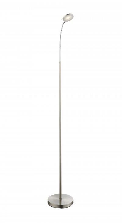 Торшер Globo 24122S DENIZОжидается<br><br><br>Цветовая t, К: 3000<br>Тип цоколя: LED<br>Цвет арматуры: серебристый никель, серебристый хром<br>Количество ламп: 1<br>Ширина, мм: 350<br>Высота, мм: 1500<br>MAX мощность ламп, Вт: 5