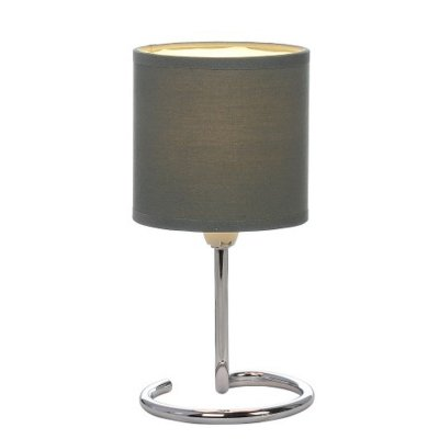 Настольная лампа Globo 24639dg ELFIСовременные<br><br><br>Тип товара: Настольная лампа<br>Скидка, %: 21<br>Тип цоколя: E14<br>Количество ламп: 1<br>MAX мощность ламп, Вт: 40<br>Диаметр, мм мм: 120<br>Высота, мм: 250<br>Цвет арматуры: серый