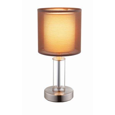 Настольная лампа Globo 24644Современные<br><br><br>Тип цоколя: E14<br>Количество ламп: 1<br>MAX мощность ламп, Вт: 40<br>Диаметр, мм мм: 140<br>Высота, мм: 300<br>Цвет арматуры: коричневый