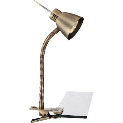 Настольная лампа Globo 2477 NuovaНа прищепке<br>Светильники-споты – это оригинальные изделия с современным дизайном. Они позволяют не ограничивать свою фантазию при выборе освещения для интерьера. Такие модели обеспечивают достаточно качественный свет. Благодаря компактным размерам Вы можете использовать несколько спотов для одного помещения.  Интернет-магазин «Светодом» предлагает необычный светильник-спот Globo 2477 по привлекательной цене. Эта модель станет отличным дополнением к люстре, выполненной в том же стиле. Перед оформлением заказа изучите характеристики изделия.  Купить светильник-спот Globo 2477 в нашем онлайн-магазине Вы можете либо с помощью формы на сайте, либо по указанным выше телефонам. Обратите внимание, что мы предлагаем доставку не только по Москве и Екатеринбургу, но и всем остальным российским городам.<br><br>S освещ. до, м2: 3<br>Тип товара: Настольная лампа<br>Скидка, %: 16<br>Тип лампы: галогенная / LED-светодиодная<br>Тип цоколя: GU10<br>Количество ламп: 1<br>Ширина, мм: 150<br>MAX мощность ламп, Вт: 35<br>Длина, мм: 200<br>Высота, мм: 340<br>Цвет арматуры: бронзовый